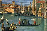 Canaletto The Grand Canal at the Salute Church [detail] painting
